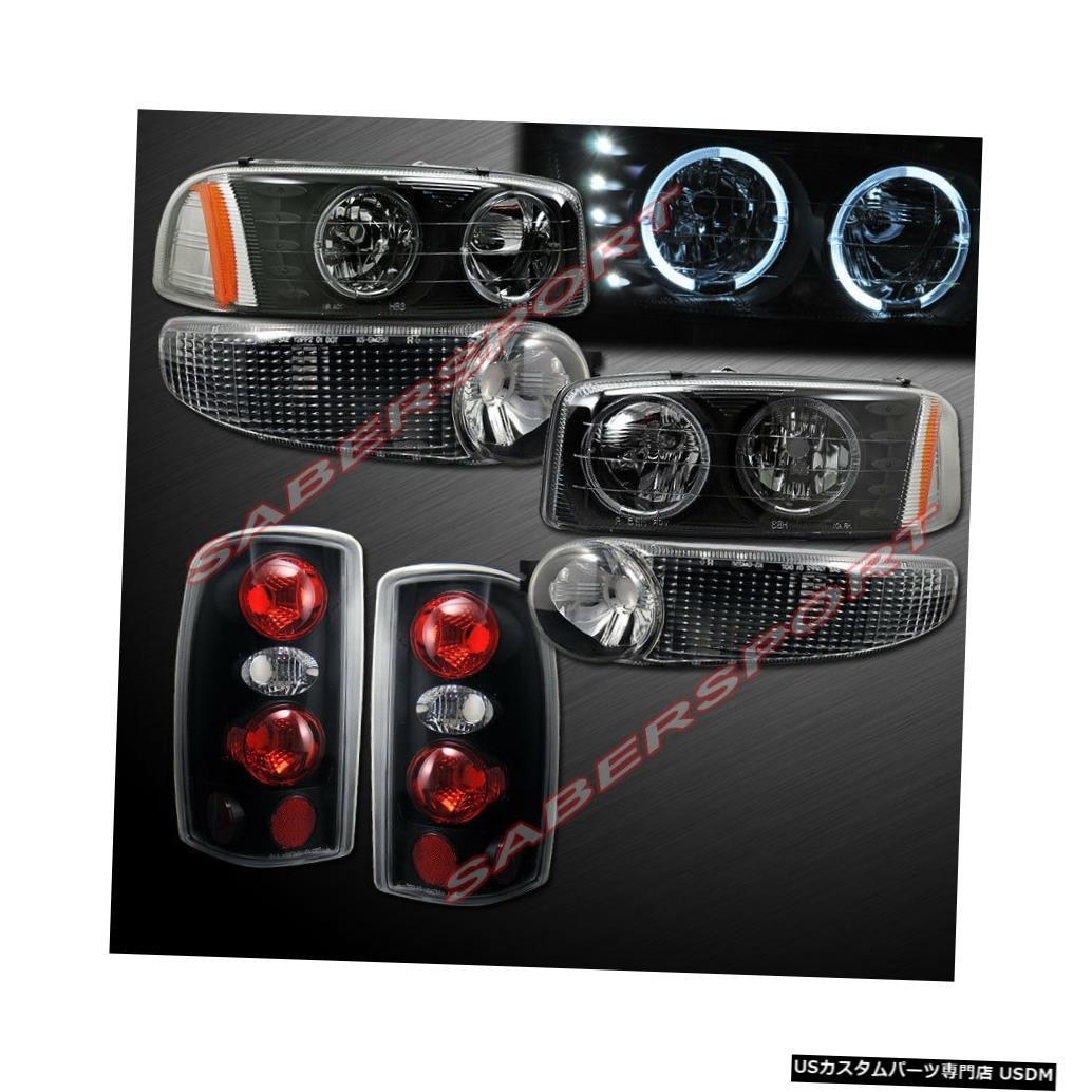 Tail light 2001-2006ユーコンデナリ用ブラックハローヘッドライト+パークシグナル+テールライト Black Halo Headlights + Park Signal + Taillights for 2001-2006 Yukon Denali