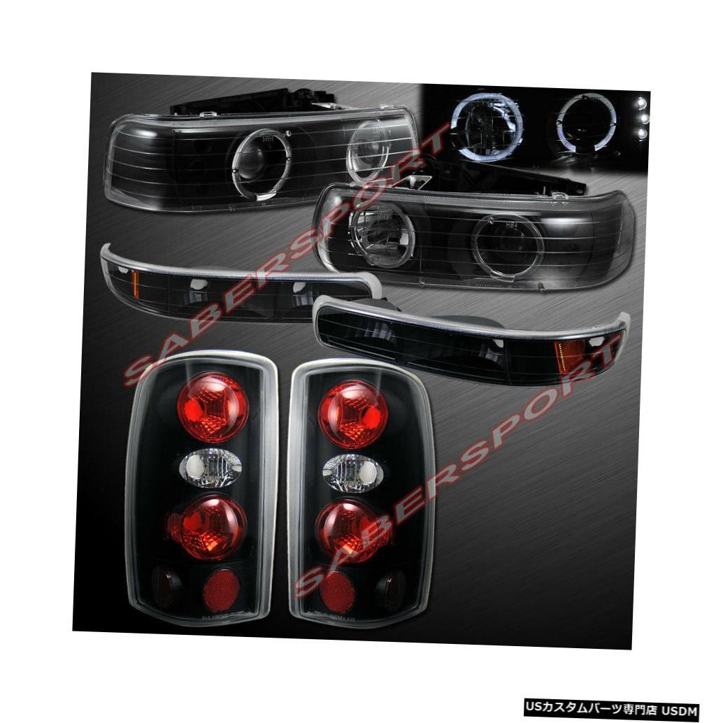 Tail light ブラックハロープロジェクターヘッドライト+テールライトのセット(00-06サバーバンタホ用) Set of Black Halo Projector Headlights + Taillights for 00-06 Suburban Tahoe