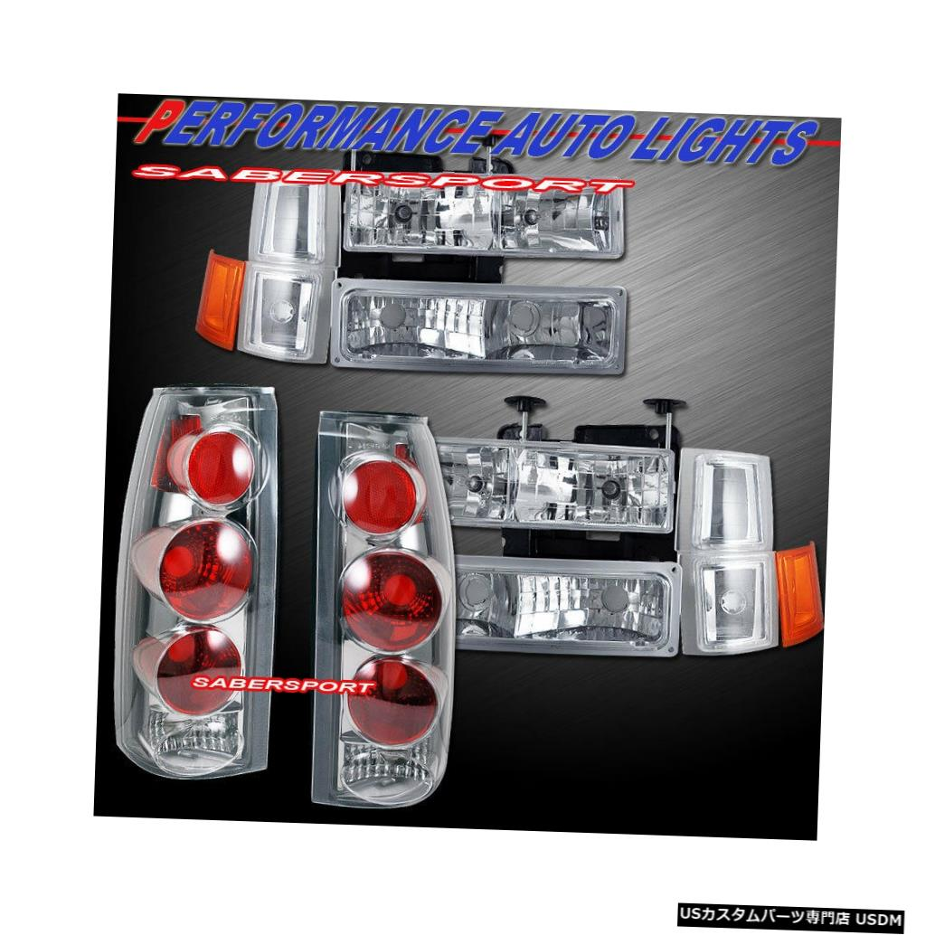 Tail light ユーロクリアヘッドライト+パークシグナル+テールライト(94-99シェビーC / Kフルサイズ用) Euro Clear Headlights + Park Signal + Taillights for 94-99 Chevy C/K Full Size