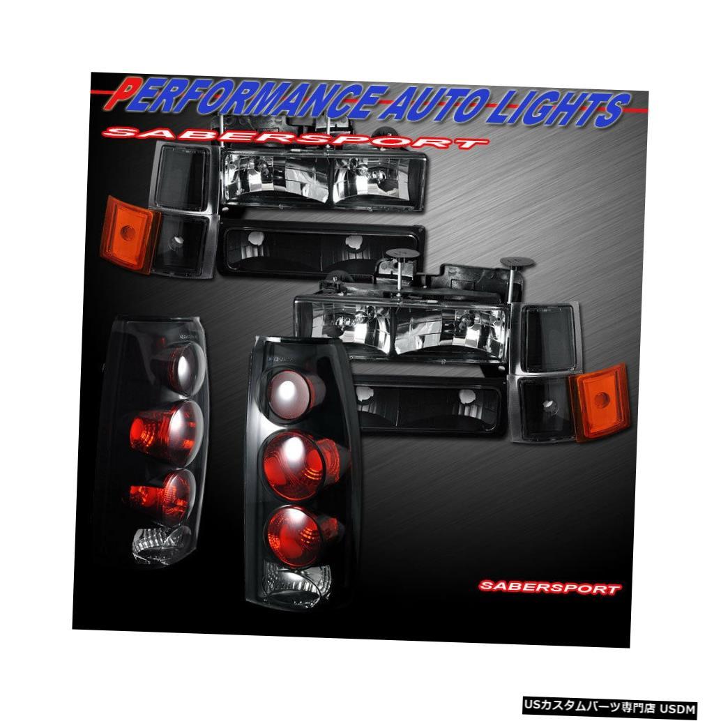 Tail light ブラックヘッドライト+パークシグナル+テールライトを94-99シェビーC / Kフルサイズに設定 Set Black Headlights + Park Signal + Taillights for 94-99 Chevy C/K Full Size