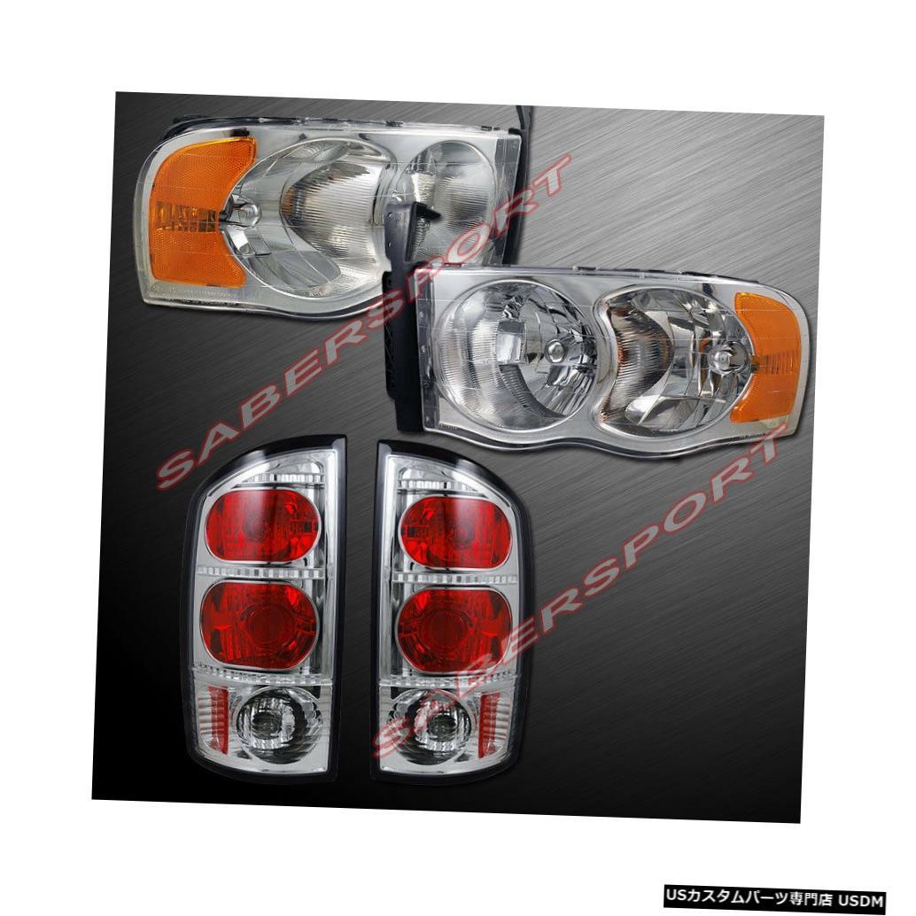 Tail light 02-05 Dodge Ram 1500および03-05 2500/3500用のヘッドライト+テールライトのコンボセット Combo Set of Headlights+ Taillights for 02-05 Dodge Ram 1500 and 03-05 2500/3500