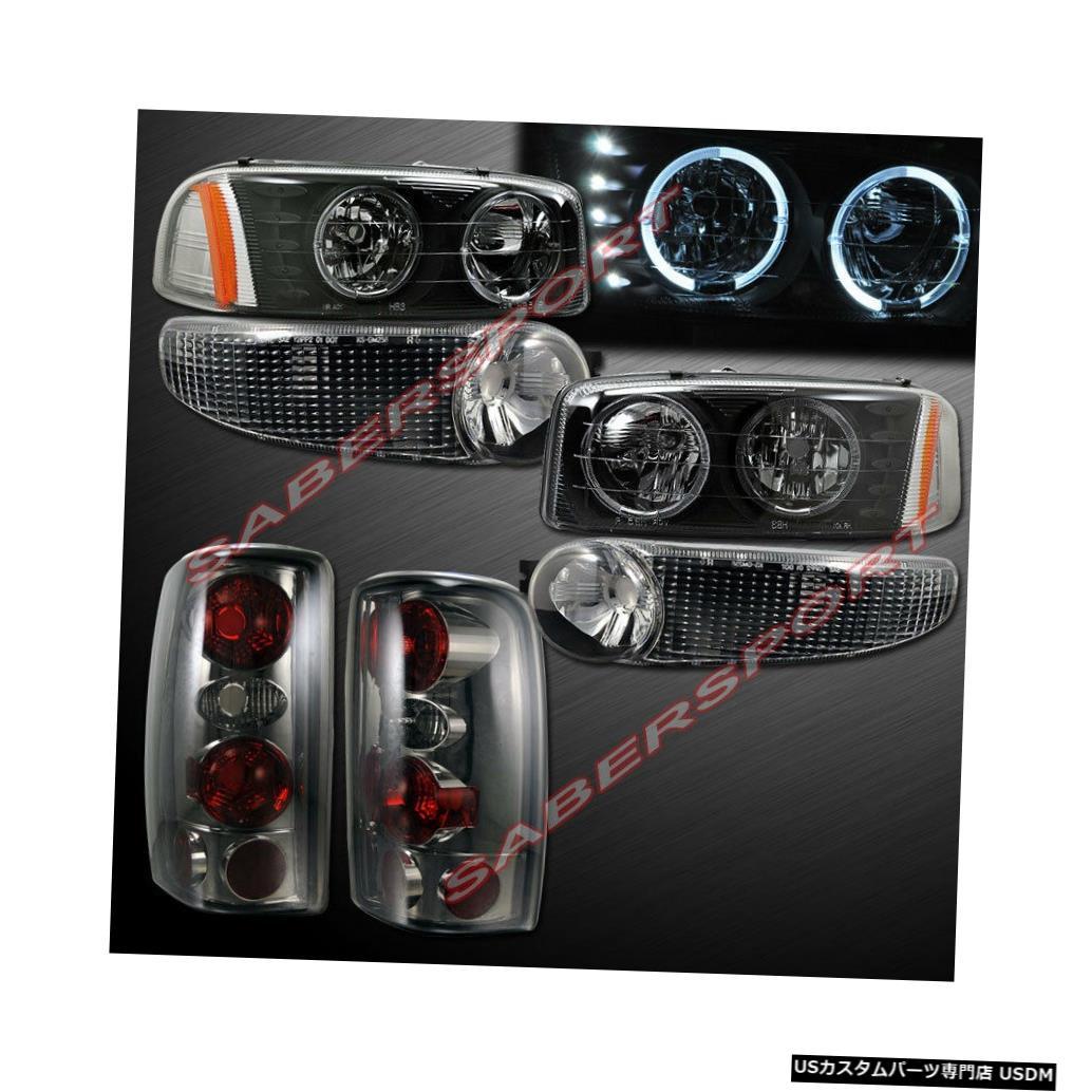 Tail light 01-06ユーコンデナリ用ブラックハローヘッドライト+パークシグナル+スモークテールライト Black Halo Headlights + Park Signal + Smoke Taillights for 01-06 Yukon Denali