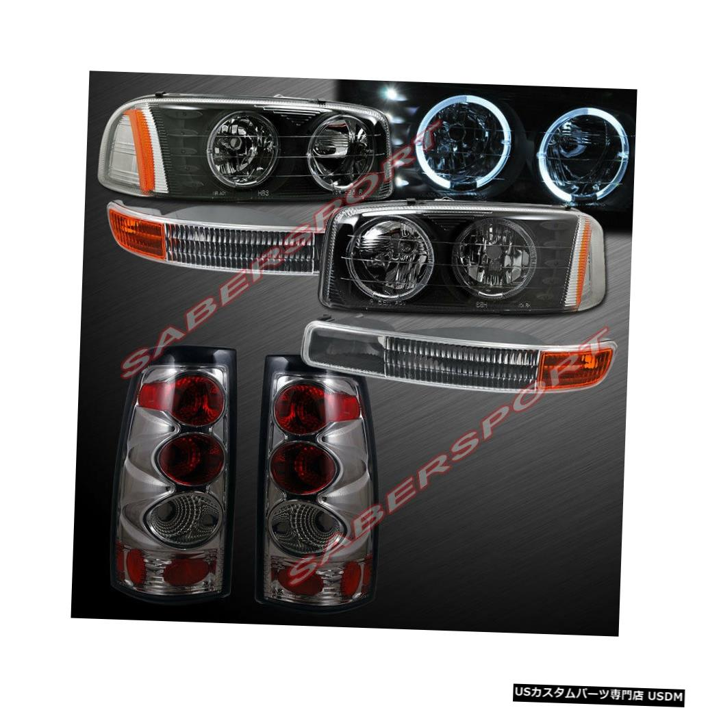 Tail light 99-03シエラ用ブラックハローヘッドライト+パークシグナル+クロームスモークテールライト Black Halo Headlights + Park Signal + Chrome Smoke Taillights for 99-03 Sierra