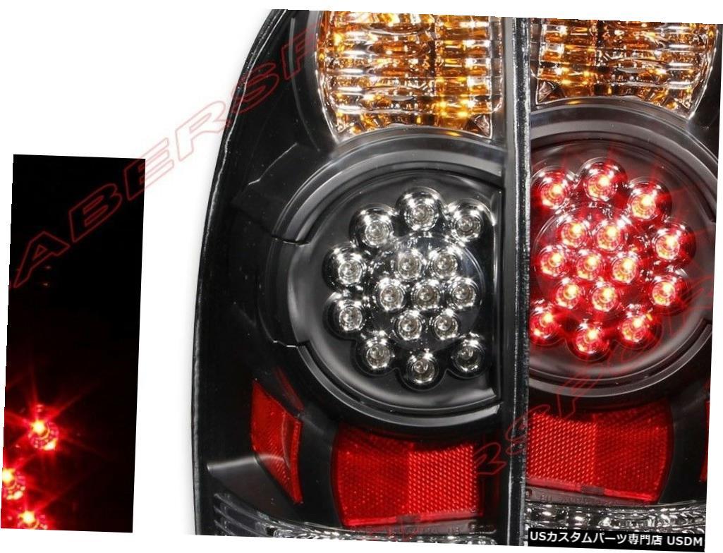 Tail light 2005-2015トヨタタコマのペアブラックハウジングLEDテールライトセット Set of Pair Black Housing LED Taillights for 2005-2015 Toyota Tacoma