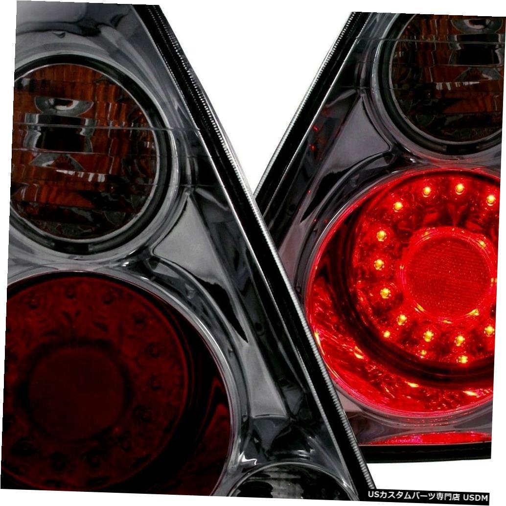 Tail light 2002-2006日産アルティマ用ペアスモークレンズクロームハウジングLEDテールライトのセット Set of Pair Smoke Lens Chrome Housing LED Taillights for 2002-2006 Nissan Altima