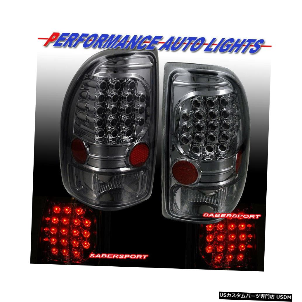 Tail light 1997-2004ダッジダコタ用ペアクロームスモークLEDテールライトのセット Set of Pair Chrome Smoke LED Taillights for 1997-2004 Dodge Dakota