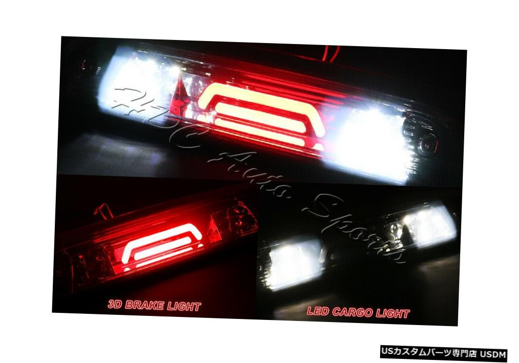 Tail light シボレー/シルバー/ GMC /シエラスモークLEDバー3RDサードブレーキライト+カーゴランプ For Chevy/Silverado/GMC/Sierra Smoke LED BAR 3RD Third Brake Light+Cargo Lamp
