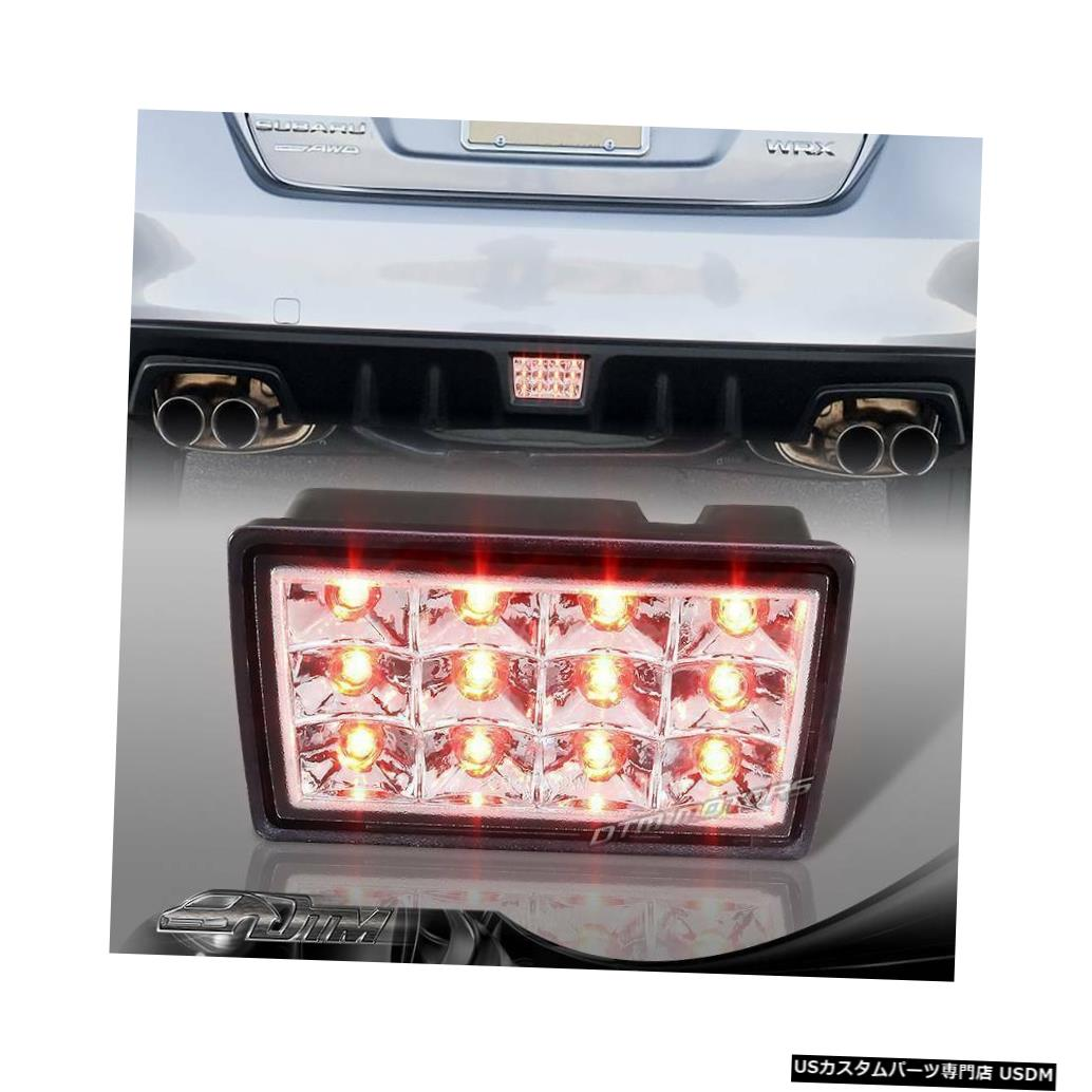 Tail light F1スタイルクリアレンズ2011-2014スバルWRX STIの赤いLEDリア3ブレーキライト F1 Style Clear Lens Red LED Rear 3rd Brake Light For 2011-2014 Subaru WRX STI