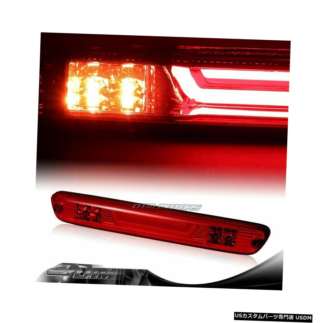 Tail light 2004-2012 GMCキャニオンレッドレンズLEDバー3RDサードブレーキストップライトW /カーゴランプ用 For 2004-2012 GMC Canyon Red Len LED BAR 3RD Third Brake Stop Light W/Cargo Lamp