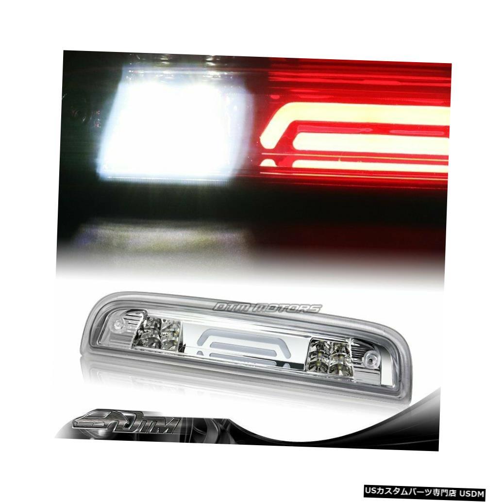 Tail light 2014-18シェビーシルバラード/ GMCシエラクロームLEDバー3RDサードブレーキライトランプ用 For 2014-18 Chevy Silverado/GMC Sierra Chrome LED BAR 3RD Third Brake Light Lamp