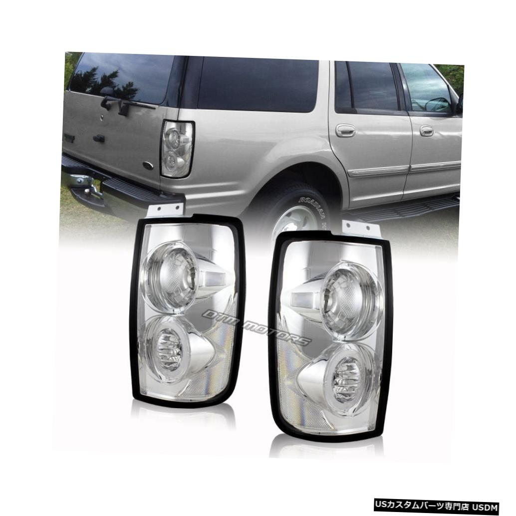 Tail light 97-02フォードの遠征のための明確なレンズの尾ライトランプを収容するヨーロッパ式のクロム Euro Style Chrome Housing Clear Lens Tail Light Lamps For 97-02 Ford Expedition