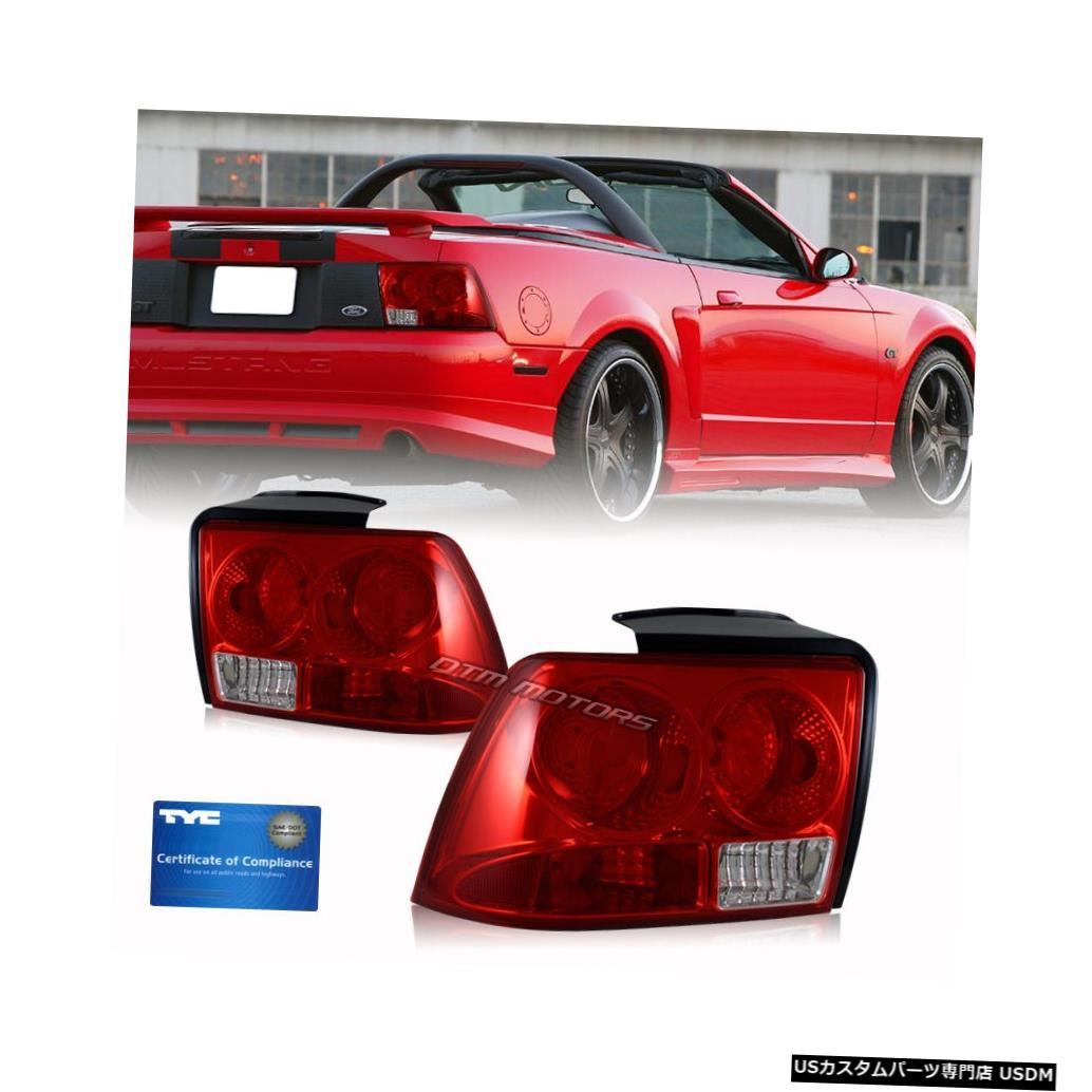 Tail light 1999 2000 2001 2002 2003 2004 Ford Mustang Red Lens TYC Tail Light Lamps Set R + L 1999 2000 2001 2002 2003 2004 Ford Mustang Red Lens TYC Tail Light Lamps Set R+L