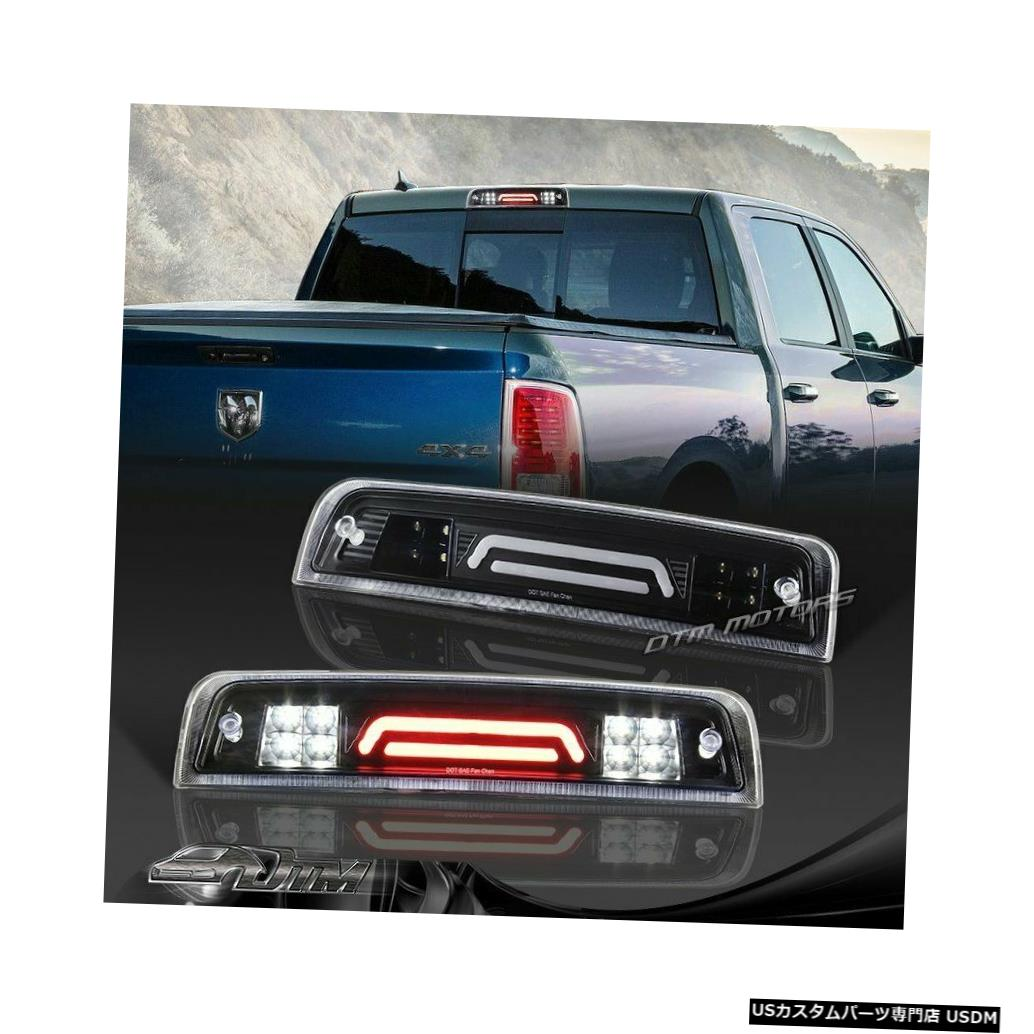 Tail light 11-17 Ram 1500 2500 3500ブラックLEDバー3RDサードブレーキライト(カーゴランプ付き)用 For 11-17 Ram 1500 2500 3500 Black LED BAR 3RD Third Brake Light W/Cargo Lamp