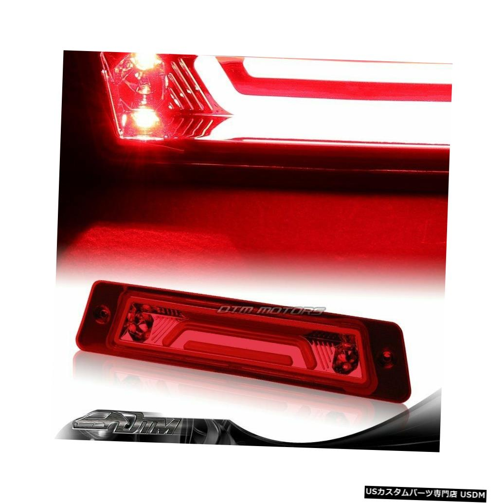 Tail light 1987-1993フォードマスタングレッドレンズLED BAR 3RDサードブレーキストップテールランプ For 1987-1993 Ford Mustang Red Lens LED BAR 3RD Third Brake Stop Tail Light Lamp
