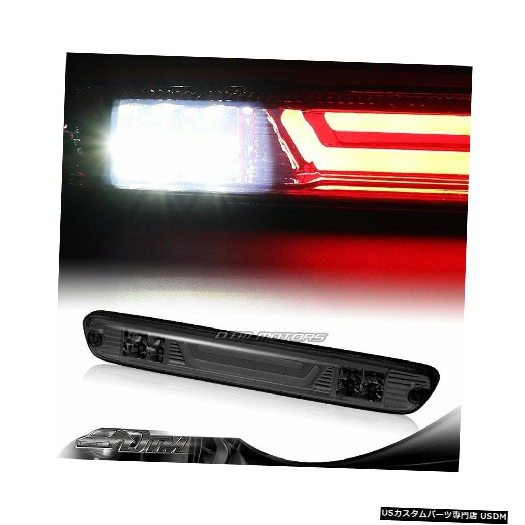 Tail light 2004-2012 GMCキャニオンスモークレンズLED BAR 3RDサードブレーキライトW /カーゴランプ用 For 2004-2012 GMC Canyon Smoke Lens LED BAR 3RD Third Brake Light W/Cargo Lamp