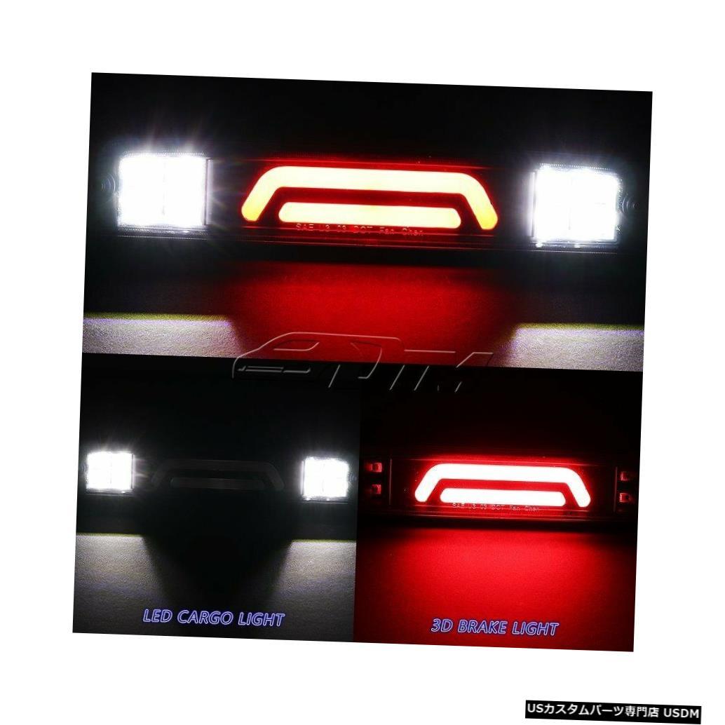 Tail light F250 / 350/450スーパーデューティスモークレンズ用LEDバー3RDサードブレーキライトカーゴランプ For F250/350/450 Super Duty Smoke Lens LED BAR 3RD Third Brake Light Cargo Lamp