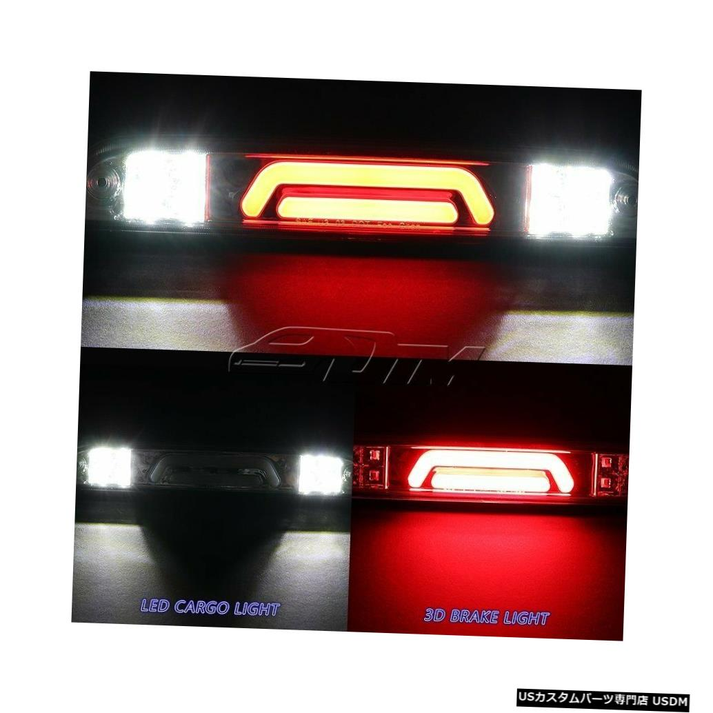 Tail light 1993-2011フォードレンジャークロームLEDバー3RDサードブレーキストップライトW /カーゴランプ用 For 1993-2011 Ford Ranger Chrome LED BAR 3RD Third Brake Stop Light W/Cargo Lamp