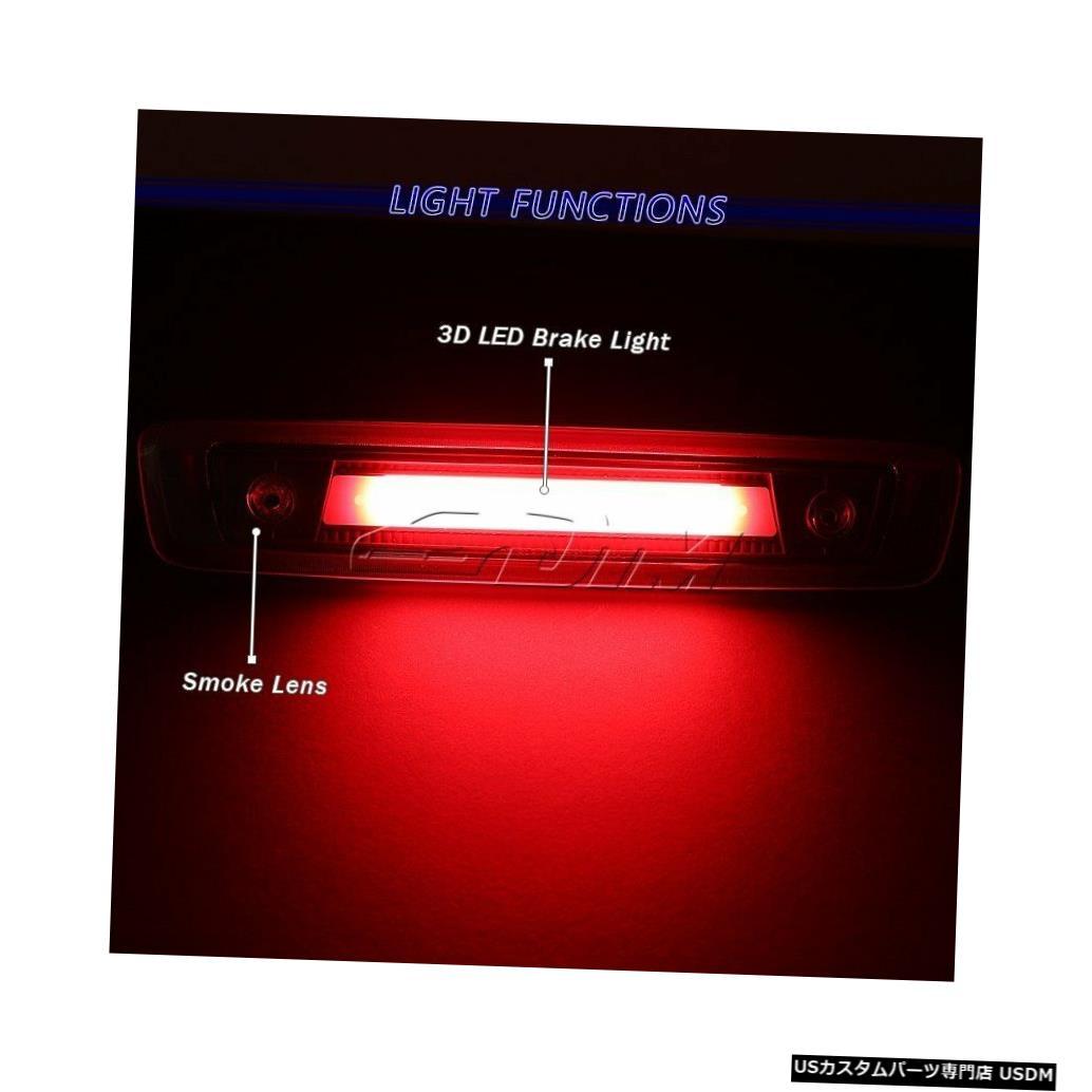 Tail light 06-10ジープコマンダーブラック/スモークLEDストリップ3RDサードブレーキストップテールライト For 06-10 Jeep Commander Black/Smoke LED Strip 3RD Third Brake Stop Tail Light