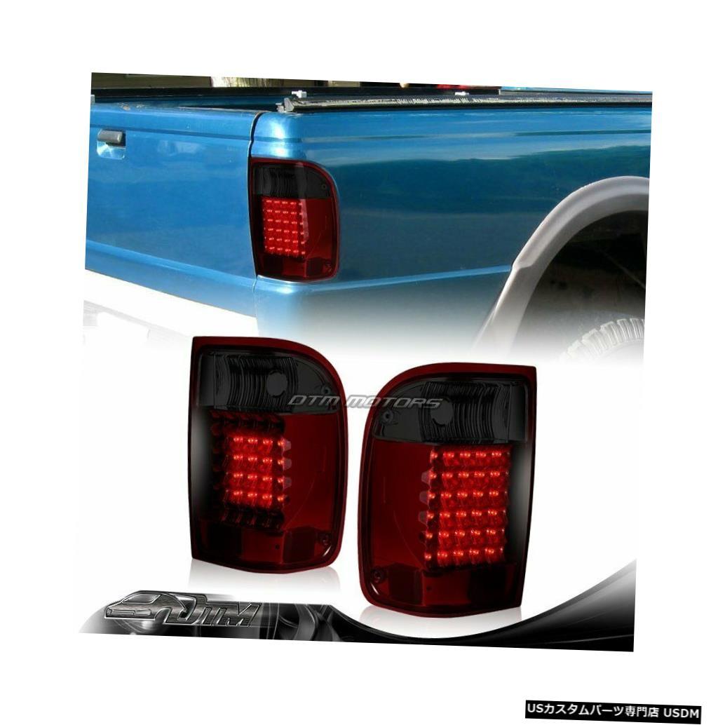 Tail light 1993-2000フォードレンジャー赤/煙レンズLEDリアブレーキテールライトランプ For 1993-2000 Ford Ranger Red/Smoke Lens LED Rear Brake Tail Lights Lamps