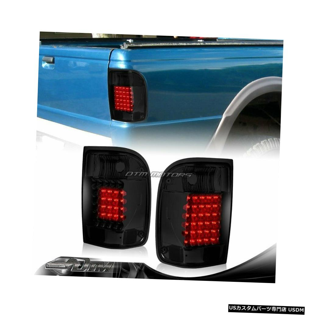 Tail light 1993- 2000年のためにフォードレンジャーダークスモークレンズLEDリアブレーキテールライトランプ For 1993-2000 Ford Ranger Dark Smoke Lens LED Rear Brake Tail Lights Lamps