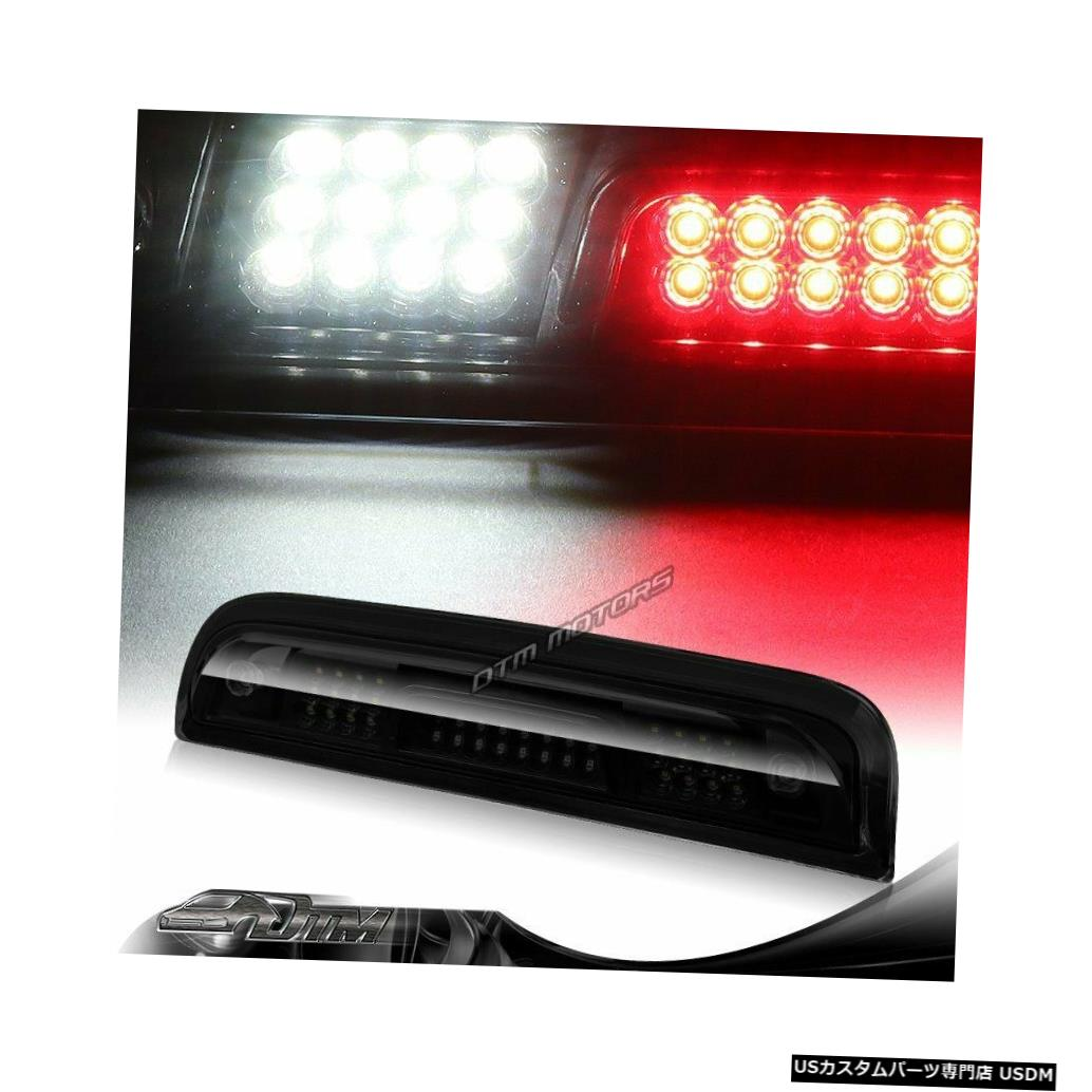 Tail light 15-18 GMCシエラ2500HD 3500HD BLK /スモークLEDサードブレーキライトW /カーゴランプ用 For 15-18 GMC Sierra 2500HD 3500HD BLK/Smoke LED Third Brake Light W/Cargo Lamp