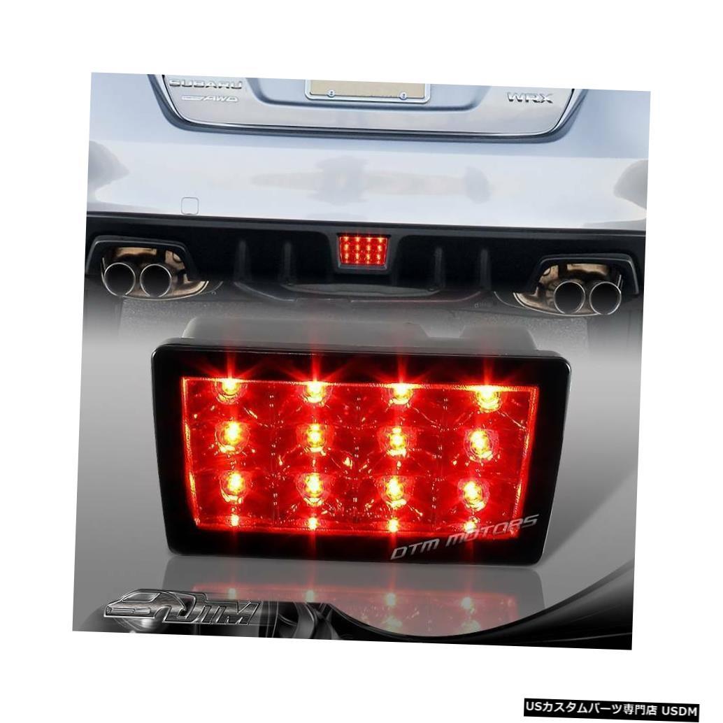Tail light F1スタイルスモークレンズ2011-2014スバルWRX STIの赤いLEDリア3ブレーキライト F1 Style Smoke Lens Red LED Rear 3rd Brake Light For 2011-2014 Subaru WRX STI