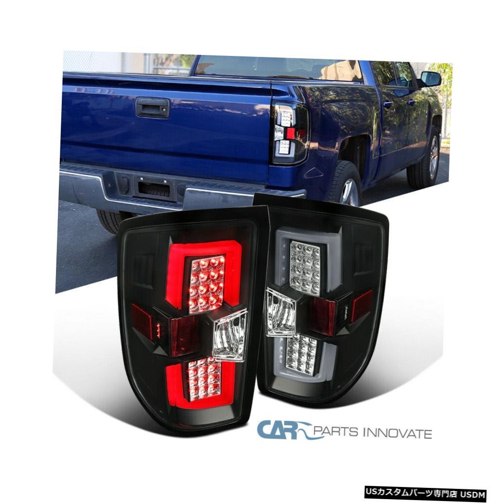 <title>車用品 バイク用品 >> パーツ ライト ランプ ブレーキ テールランプ Tail light 14-17シェビーシルバラードGMCシエラピックアップ用ブラックテールブレーキライト+ LEDバー For 14-17 Chevy トレンド Silverado GMC Sierra Pickup Black Brake Lights+LED Bar</title>