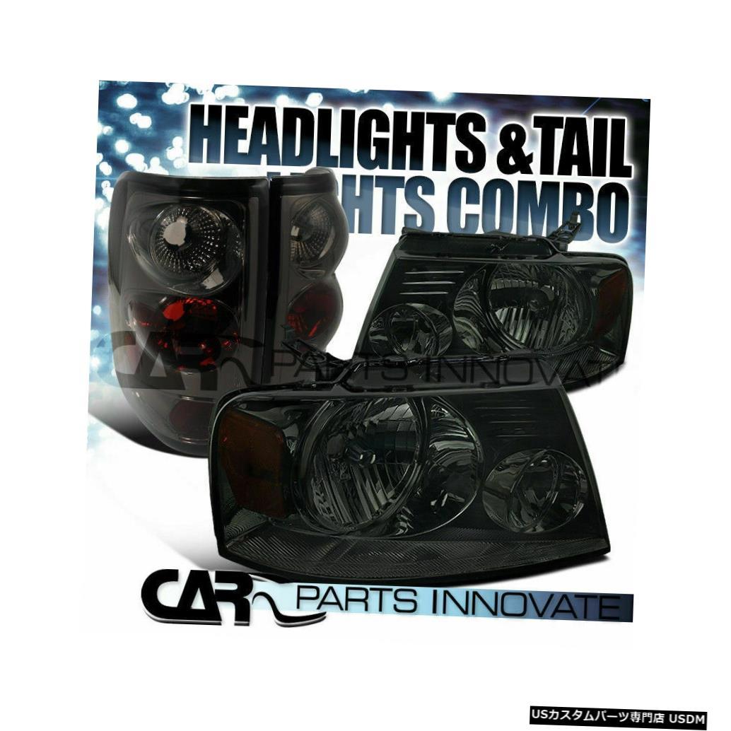 Tail light フォード04-05 F150クリスタルスモークヘッドライト+リアティントテールブレーキランプ Ford 04-05 F150 Crystal Smoke Headlights+Rear Tint Tail Brake Lamps