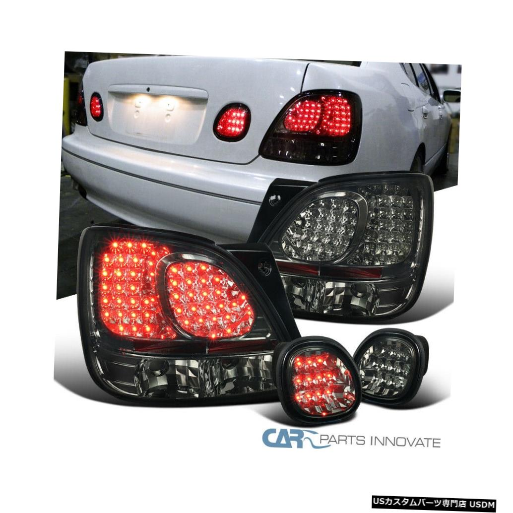 Tail light レクサス98-05 GS300 GS400 GS430の煙着色後部LEDテールライト+トランクランプ For Lexus 98-05 GS300 GS400 GS430 Smoke Tinted Rear LED Tail Lights+Trunk Lamps