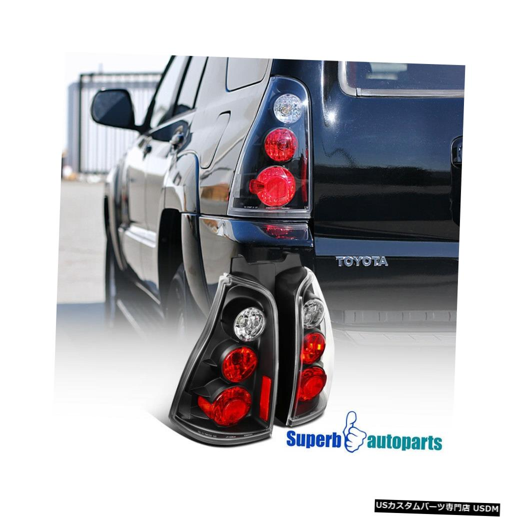 Tail light 2003-2005トヨタ4ランナー交換用テールライトリアブレーキランプブラック For 2003-2005 Toyota 4runner Replacement Tail Lights Rear Brake Lamps Black