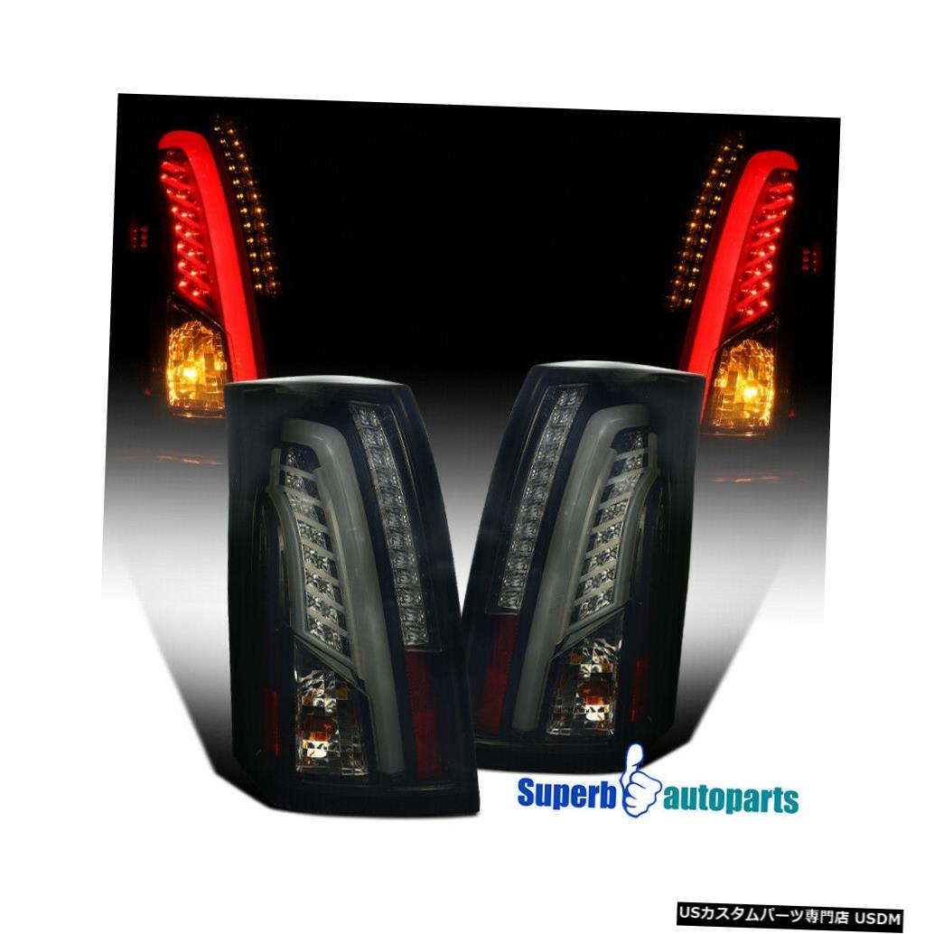 Tail light 2003-2007年のキャデラックLEDバーCTS光沢のある黒い煙尾ブレーキライト For 2003-2007 Cadillac LED Bar CTS Glossy Black Smoke Tail Brake Lights