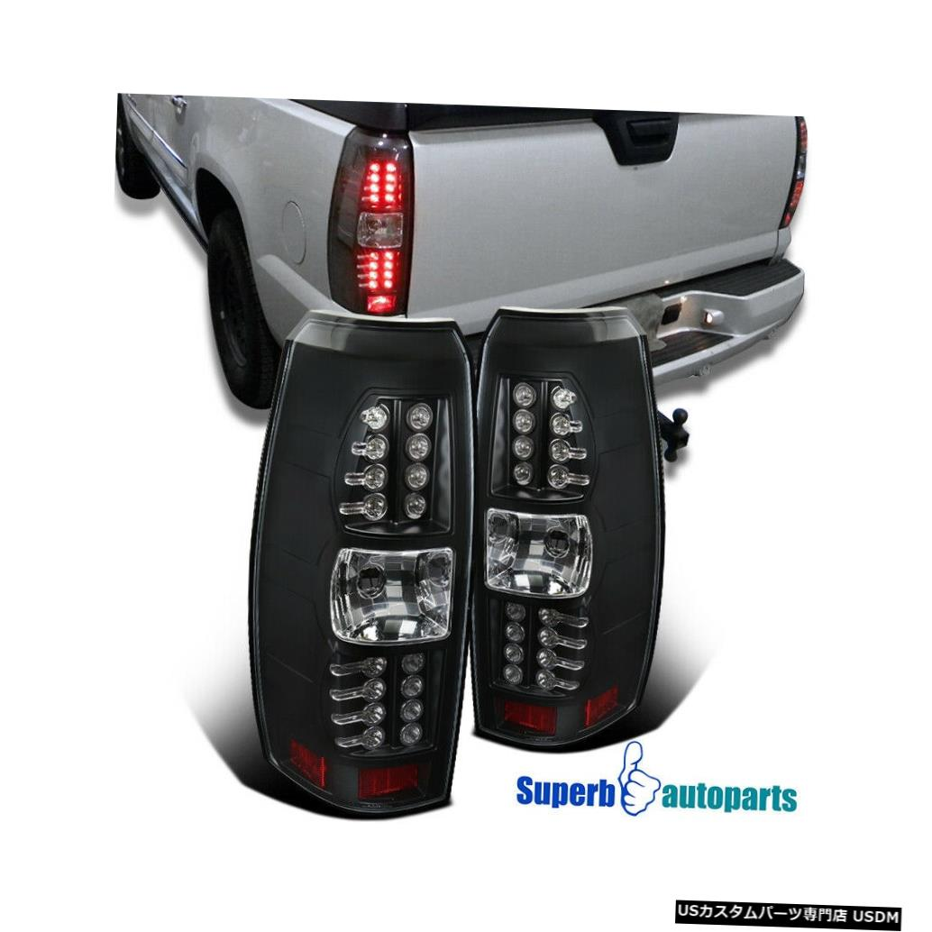 Tail light 2007-2012シボレーなだれテールライトLEDブレーキランプブラック For 2007-2012 Chevy Avalanche Tail Lights LED Brake Lamps Black