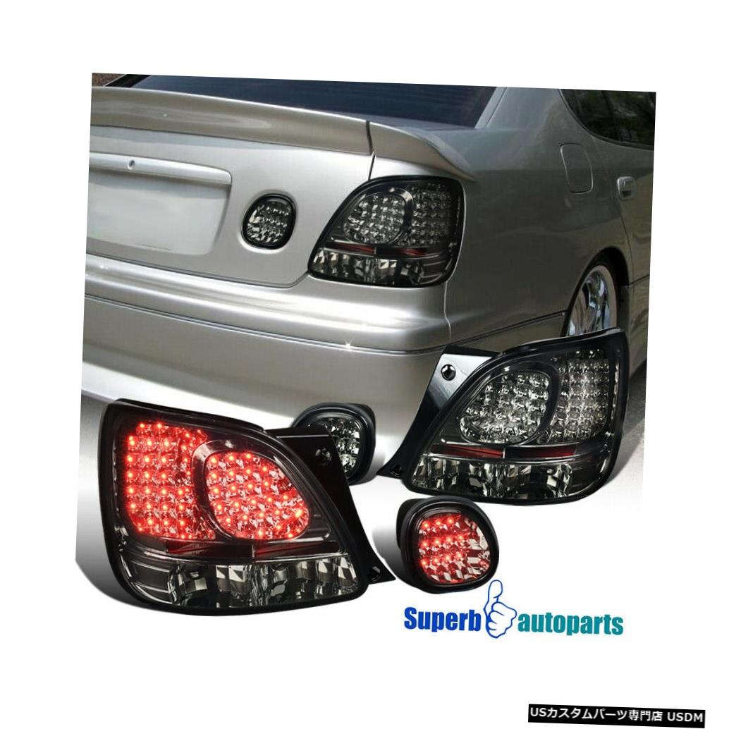 Tail light 1998-2005レクサスGS300 / GS400 / GS430 LEDテール+トランクライトスモーク For 1998-2005 Lexus GS300/GS400/GS430 LED Tail+Trunk Lights Smoke