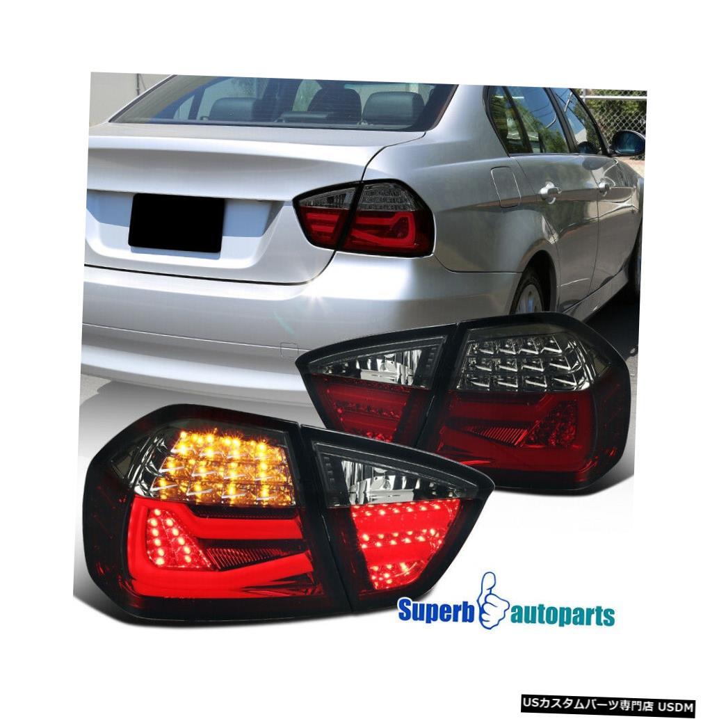 Tail light 2005-2008 BMW 3シリーズE90 4DrセダンチューブLEDレッド/スモークテールブレーキライト For 2005-2008 BMW 3 Series E90 4Dr Sedan Tube LED Red/Smoke Tail Brake Light