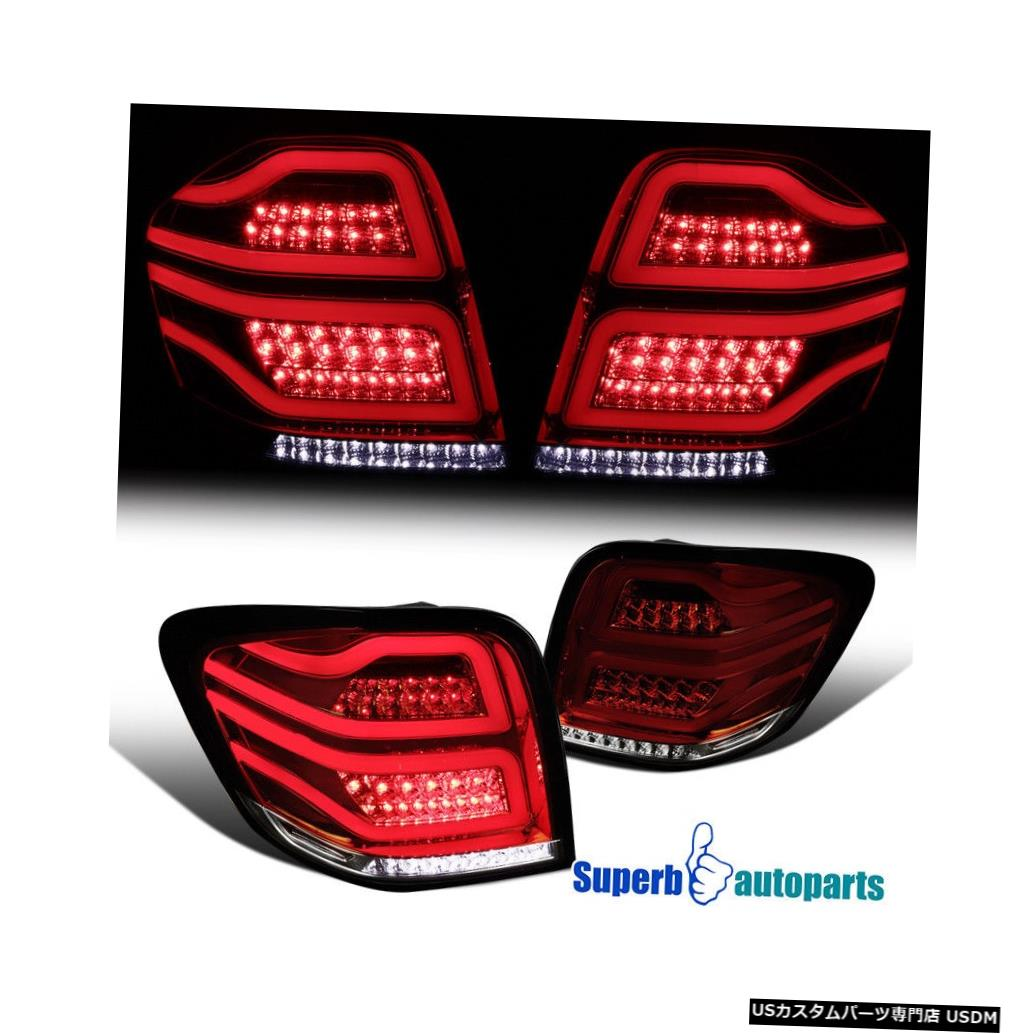 Tail light 2006-2011メルセデスMLクラスW164赤/煙フルLEDブレーキランプテールライト For 2006-2011 Mercedes ML-Class W164 Red/Smoke Full LED Brake Lamps Tail Lights