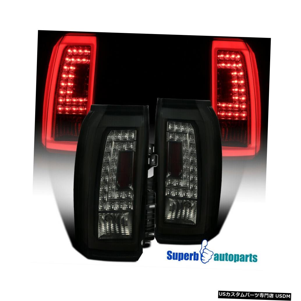 Tail light 2015-2018タホ郊外LEDテールブレーキライト光沢のある黒い煙 For 2015-2018 Tahoe Suburban LED Tail Brake Lights Glossy Black Smoke