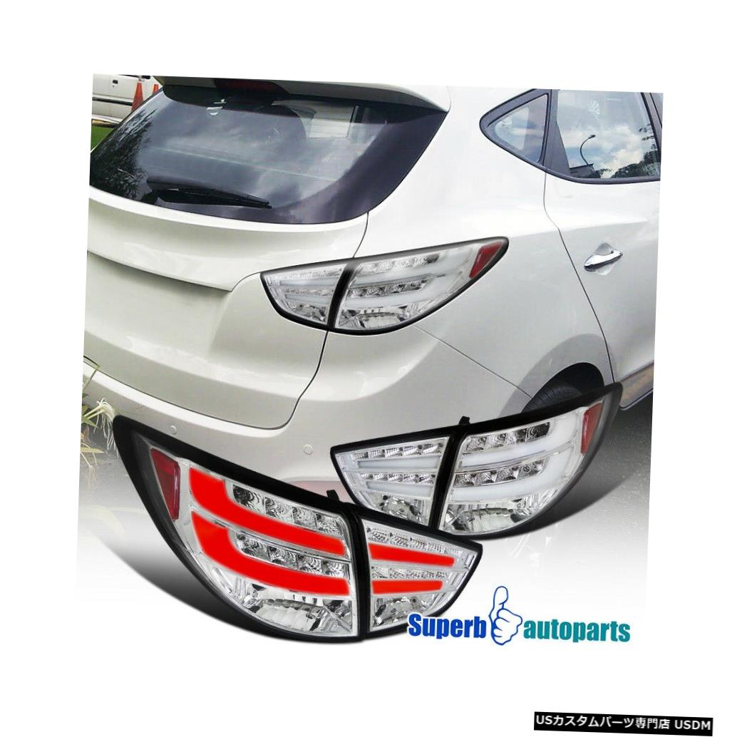 Tail light 2010-2012ツーソンGL GLSスポーツLEDテールライトリアブレーキランプ For 2010-2012 Tucson GL GLS Sport LED Tail Lights Rear Brake Lamps