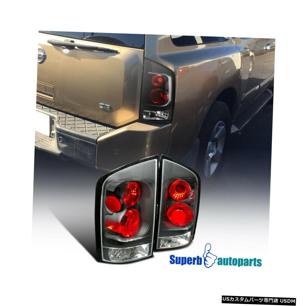 Tail light 2005-2015 Armadaテールブレーキライトリアランプブラック交換用ペア For 2005-2015 Armada Tail Brake Lights Rear Lamps Black Replacement Pair