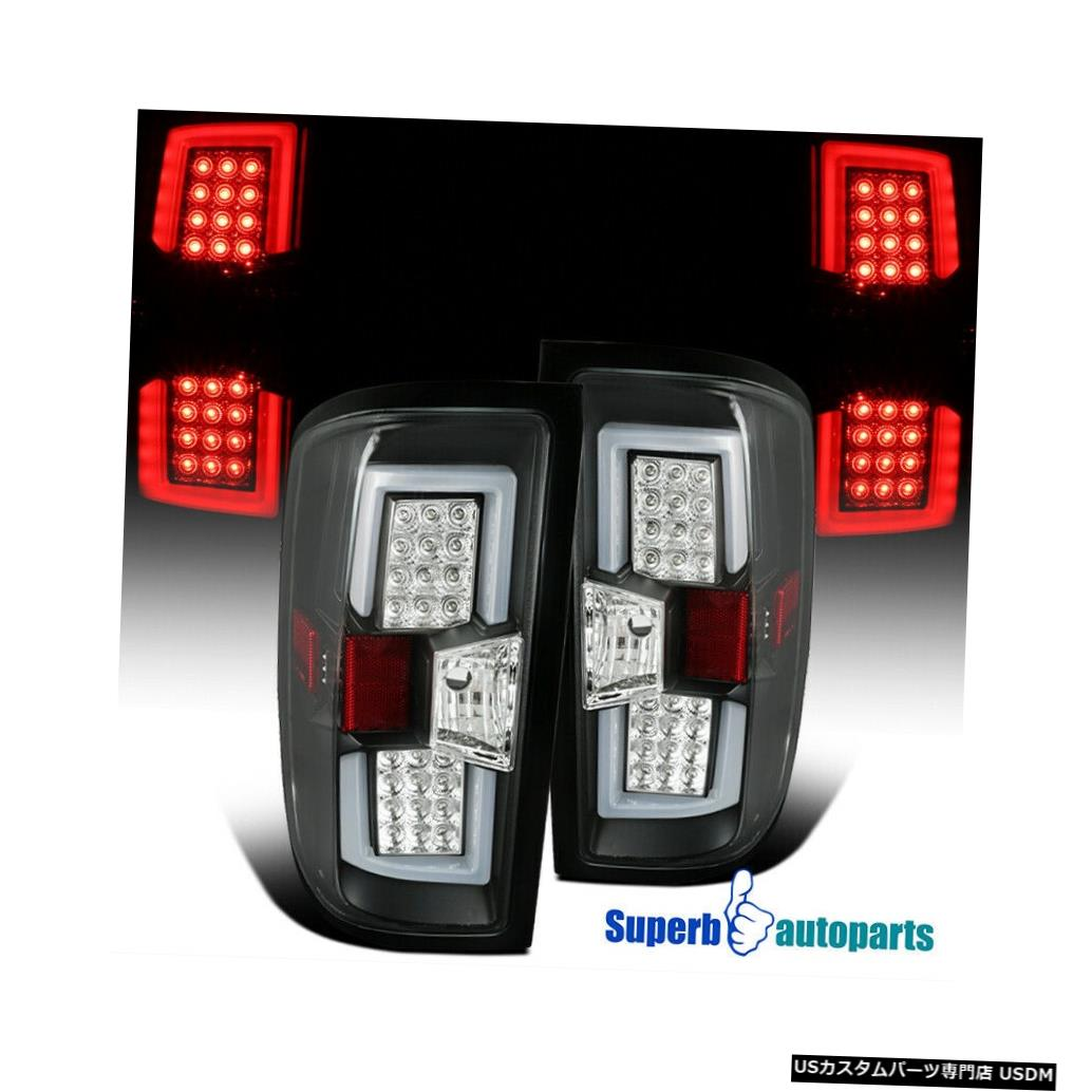 Tail light 2014-2017年のSilverado LEDテールライトリアブレーキランプLEDライトバーブラックL + R For 2014-2017 Silverado LED Tail Lights Rear Brake Lamps LED Light Bar Black L+R