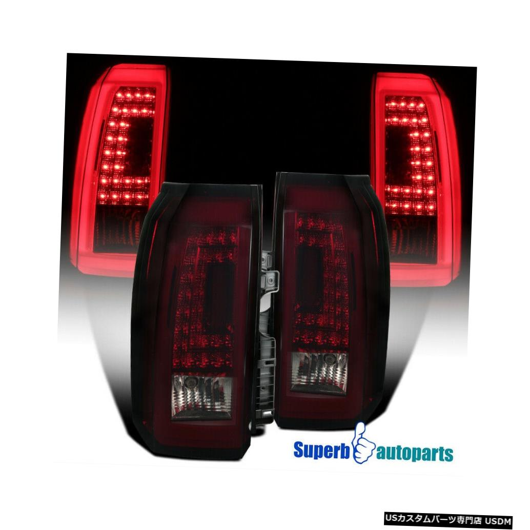 Tail light 2015-2018タホ郊外LEDテールライトブレーキストップランプ赤暗い煙 For 2015-2018 Tahoe Suburban LED Tail Lights Brake Stop Lamps Red Dark Smoke