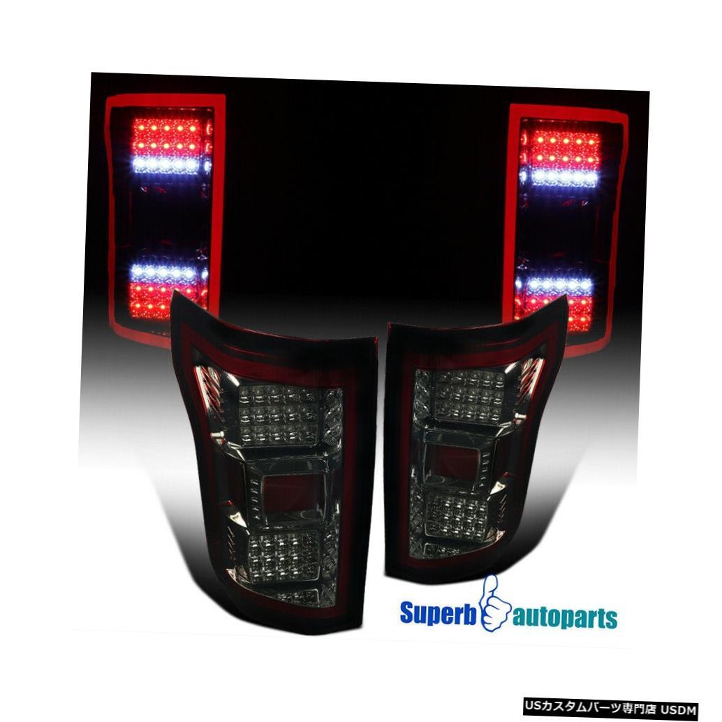 Tail light 2018-2020フォードF150スモークレッドフルLED DRLストリップリアブレーキテールライト For 2018-2020 Ford F150 Smoke Red Full LED DRL Strip Rear Brake Tail Lights