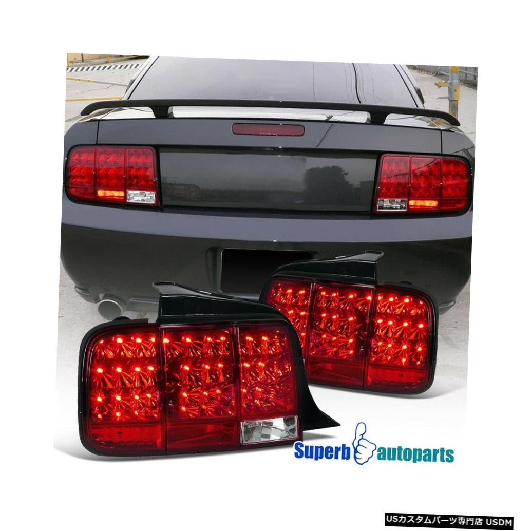 Tail light 2005-2009フォードマスタングLEDテールストップライトランプシーケンシャルシグナルレッド For 2005-2009 Ford Mustang LED Tail Stop Lights Lamps Sequential Signal Red