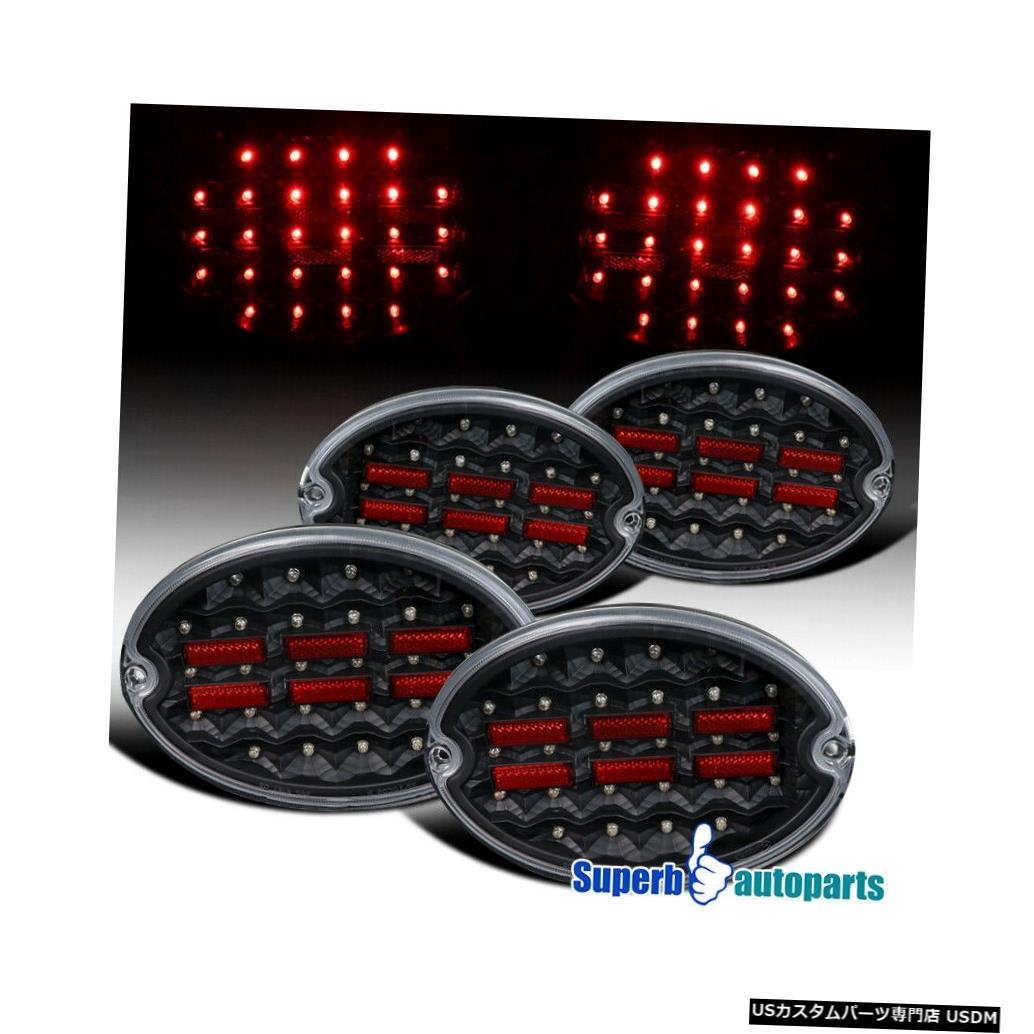 Tail light 1997-2004シボレーコルベットC5 LEDブラックテールライトブレーキランプ For 1997-2004 Chevy Corvette C5 LED Black Tail Lights Brake Lamps
