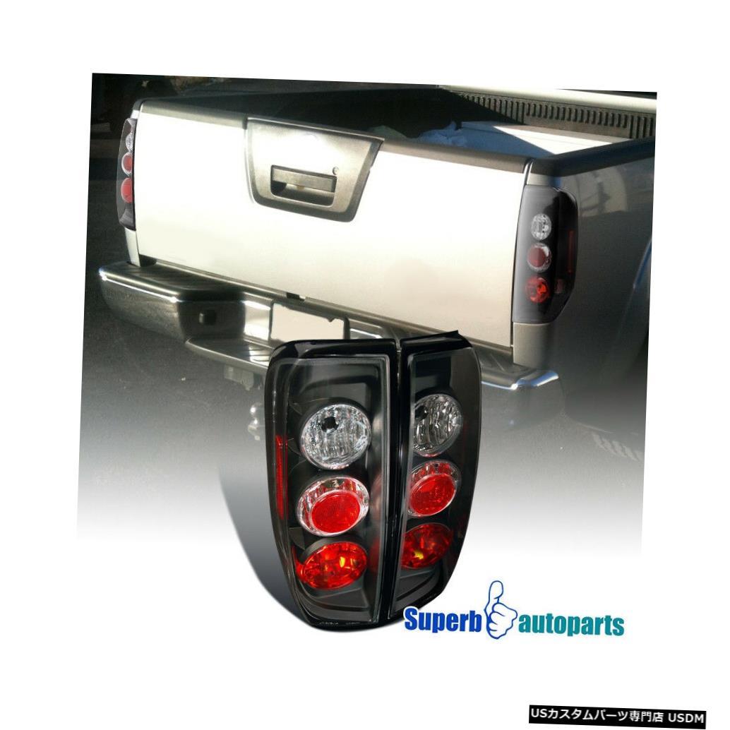 Tail light 2005-2014日産フロンティア09-12スズキ赤道黒テールライトブレーキランプ For 2005-2014 Nissan Frontier 09-12 Suzuki Equator Black Tail Lights Brake Lamp