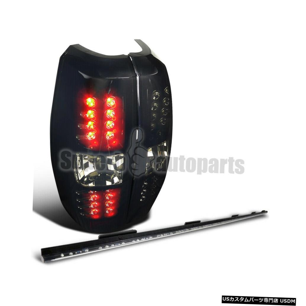 Tail light 2007-2012シボレーなだれLEDスモークテールブレーキライト+ 60インチテールゲートLEDストリップ For 2007-2012 Chevy Avalanche LED Smoke Tail Brake Lights+60