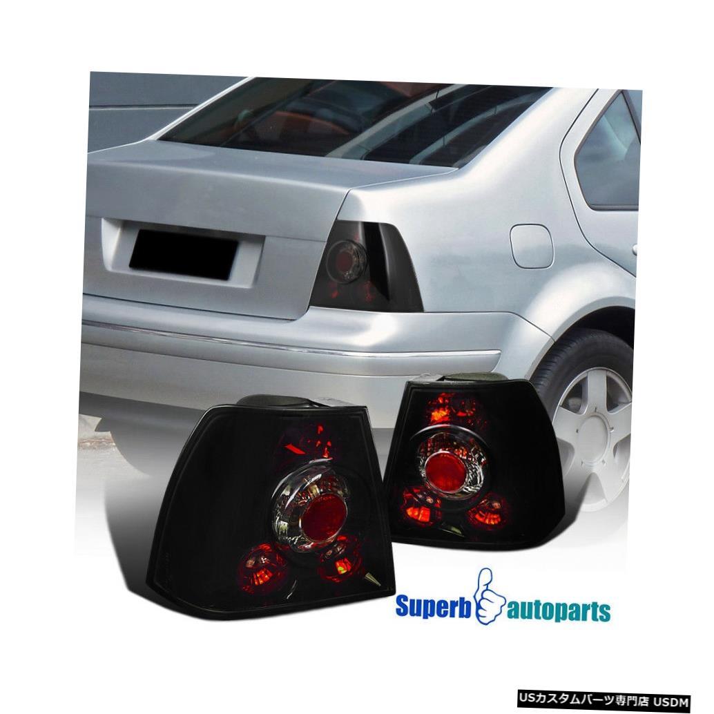 Dark 1999-2005 MK4 For Lights Tail VW Black 1999-2005 light Glossy Tail Smoke VWジェッタボラMK4交換用テールライト光沢のあるブラックダークスモーク Bora Replacement Jetta