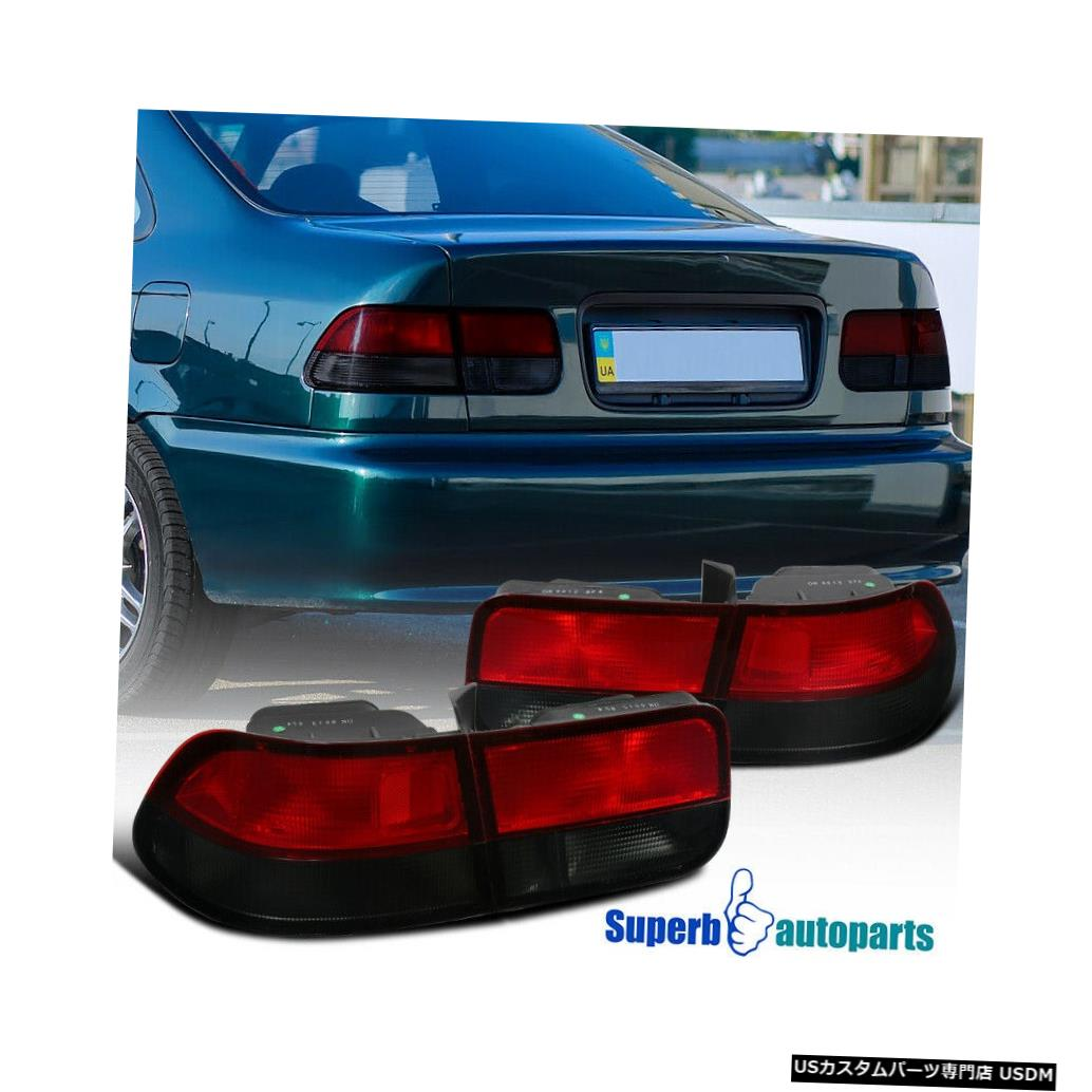 Brake Lights 1996-2000ホンダシビック2Drクーペテールライトブレーキランプレッド/スモーク Coupe light Red/Smoke Tail Lamps Civic Honda 2Dr Tail 1996-2000 For