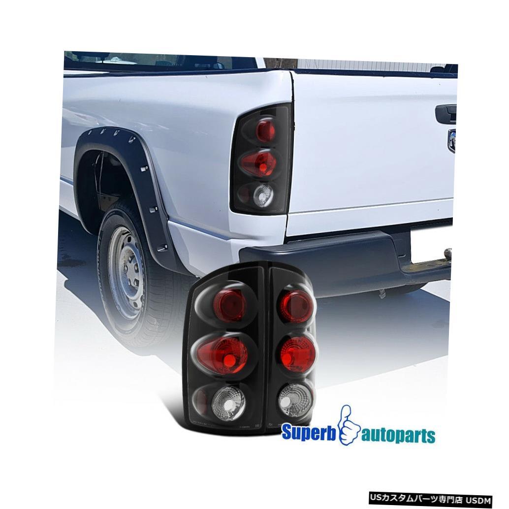 Tail light 2002-2006のダッジラムピックアップ交換用テールライトブレーキランプブラック For 2002-2006 Dodge Ram Pickup Replacement Tail Lights Brake Lamps Black