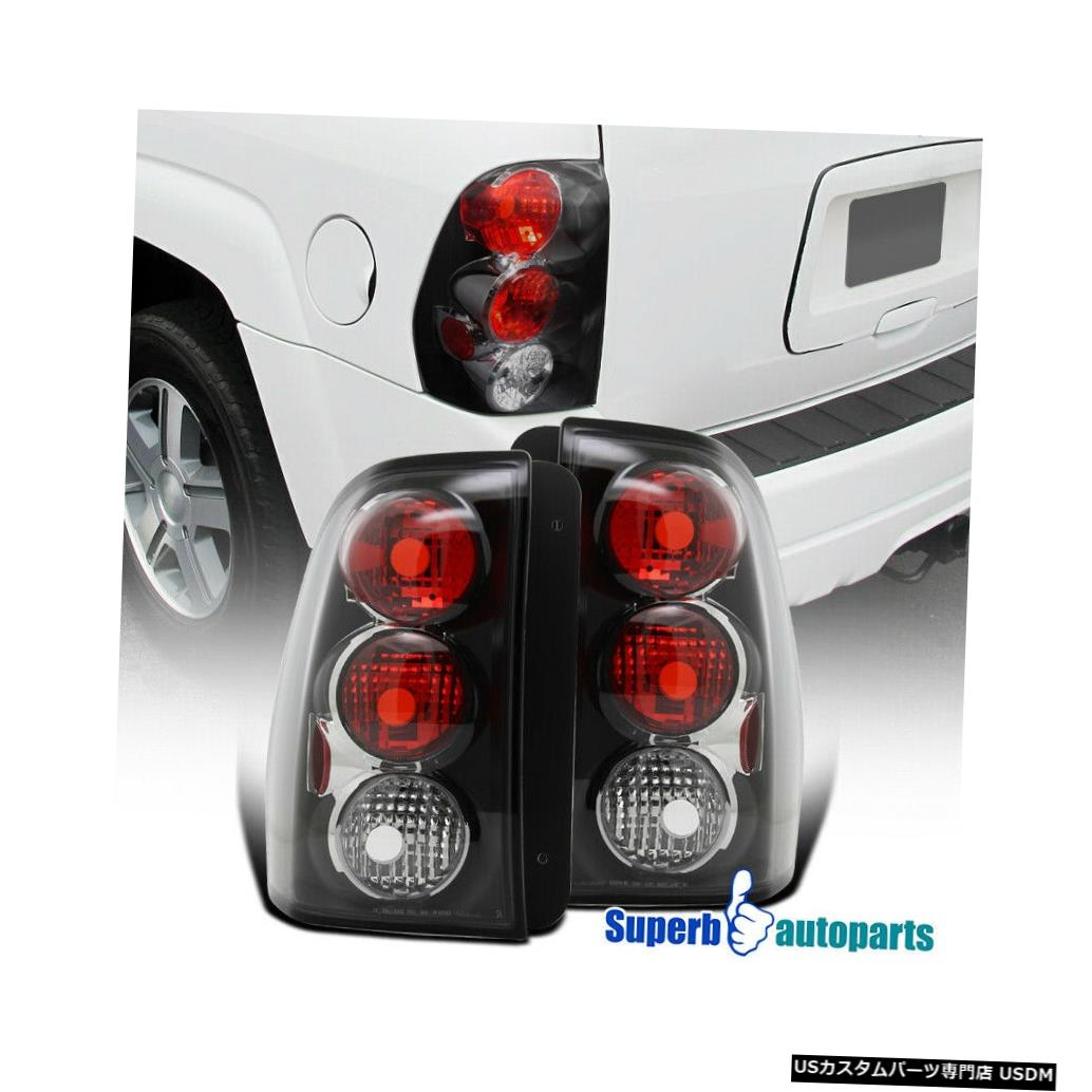 Tail light 2002-2009シェビーTrailblazer交換用テールブレーキライトブラック For 2002-2009 Chevy Trailblazer Replacement Tail Brake Lights Black