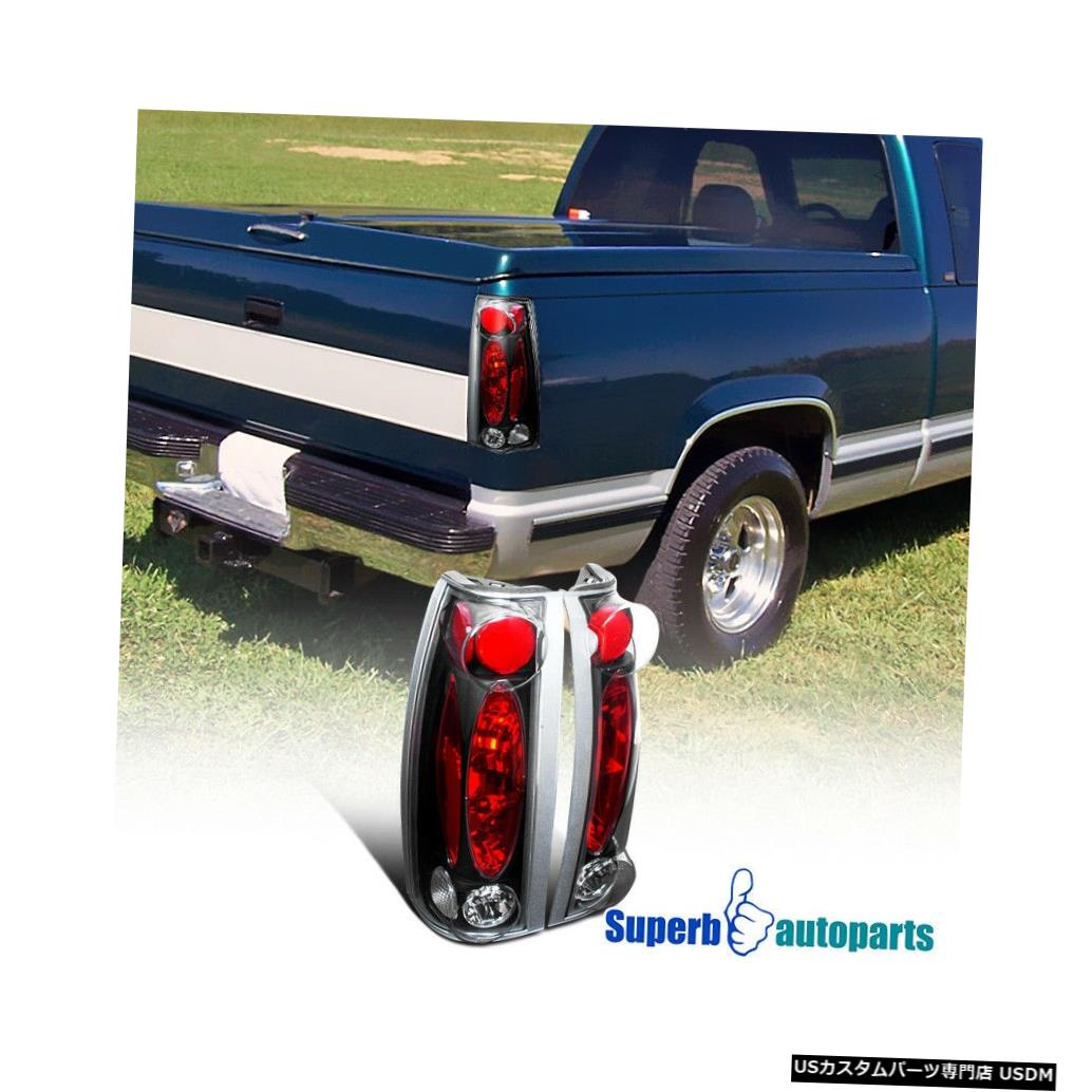Tail light 1988-1998シエラユーコンC10ブレザーサバーバンタホテールライトブラック For 1988-1998 Sierra Yukon C10 Blazer Suburban Tahoe Tail Lights Black